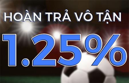 HOÀN TRẢ VÔ TẬN1.25%