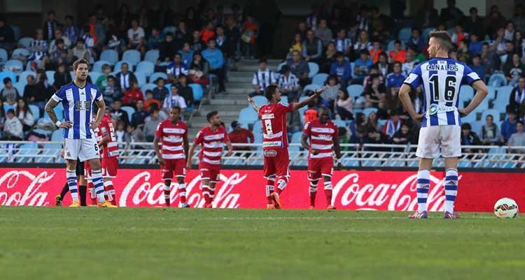Futbol 1ª div Real Sociedad Granada gol del Granada